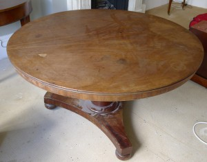 Table before restoration